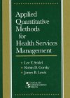 img - for Applied Quantitative Methods for Health Services Management book / textbook / text book