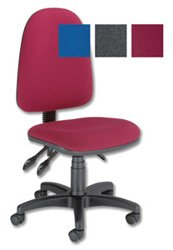 Trexus Office Operator Chair Asynchronous High Back H510mm W465xD450xH425-540mm Burgundy