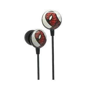 Cool Spiderman retro comic earbud earphones at amazon