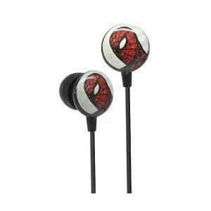 Cool Spiderman retro comic earbud earphones at amazon
