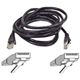 Belkin Cat-5e Snagless Patch Cable (Black, 3 Feet)