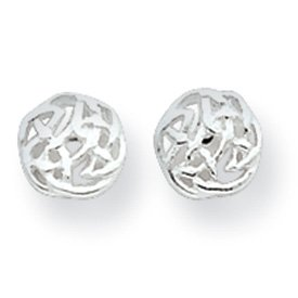 Sterling Silver Celtic Knot Post Mini Earrings