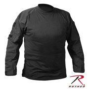 ROTHCO BLACK COMBAT SHIRT - Size 2XL