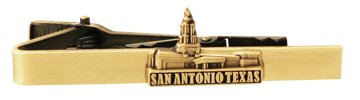 LDS San Antonio Texas Temple Gold Steel Tie Bar - Tie Clip - Priesthood Gift, LDS Missionary, Tie Clip