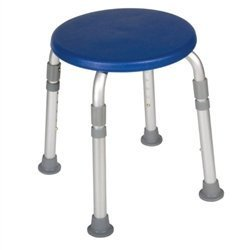 Drive Medical Designer Series Adjustable Height Bath Stool, Blue