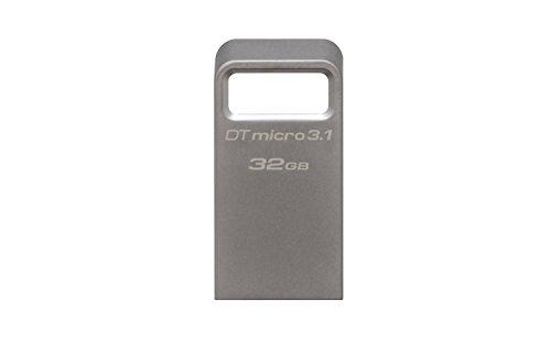 Kingston DataTraveler Micro 3.1 DTMC3/32GB Drive USB 3.1, Ultra-Compatto e Leggero, Metallo