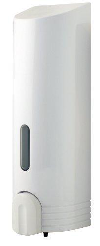 Norwood Trading - Dosatore di shampoo a serbatoio unico, fissato con adesivo, 25 x 7,5 cm, colore: Bianco