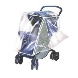 Comfy Baby Deluxe Rain Cover with Side Netting - Fits Strollers with a Canopy