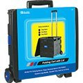 BAZIC Folding Cart on Wheels with Lid Cover, 16 x 18 x 15 Inch, Blue