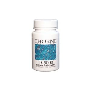 Thorne Research - D-5000 (5000 IU Preservative Free Vitamin D3) - 60's