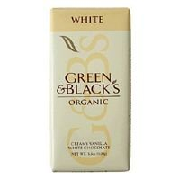 Green & Black's Organic Chocolate Bar, White Chocolate with Vanilla , 3.5-Ounce Bars (Pack of 10)