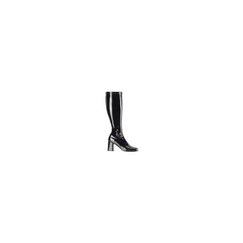 Pleaser Women'S Gogo-300X/B Boot,Black Stripe Patent,10 W Us