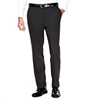 Big & Tall Ultimate Performance Flat Front Trousers with Wool