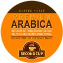 SECOND CUP RFA DECAF COFFEE 96 Single serve cups