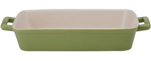 HIC Ceramic 13-Inch Lasagna Pan, Sage