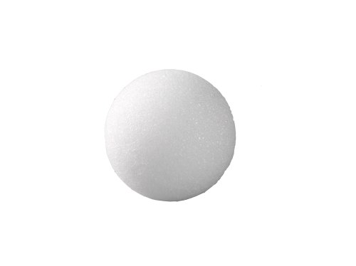 FloraCraft Packaged Styrofoam Balls,-Packaged 1 1/4-Inch Snowballs, White, 12 Per Package - 1