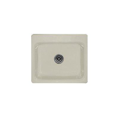 "Advantage Series 25"" X 22"" Phenix Single Bowl Self Rimming Kitchen Sink Finish: Mexican Sand, Faucet Drillings: 3 Holes"
