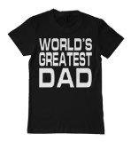 """Father's Day Black T-Shirt, """"World's Greatest Dad"""" , X-Large [Apparel]"""