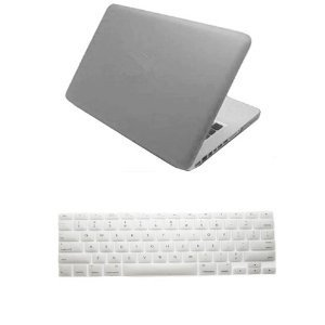 "Dealgadgets® Grey Frosted Matte Surface Crystal Hard Shell Case For Macbook Pro 13"" A1278 Aluminum Unibody With Silicone Keyboard Cover Skin Stickers Protector"