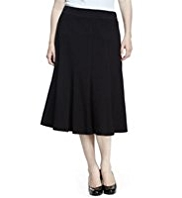 Plus Panelled Long Skirt