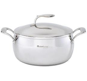 Tupperware Chef Series Mirror Finish Stainless 6 Qt./5.6L Dutch Oven (Tupperware Pots And Pans compare prices)