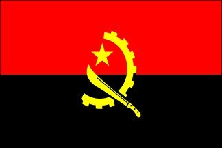4 x 6 Inch Flag of Angola - Includes Plastic