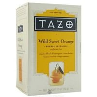 Tazo Wild Sweet Orange Herbal Infusion Tea, Caffeine Free, 20-Count Tea Bags (Pack of 6)