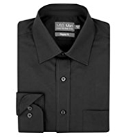 2in Longer Cotton Rich Quick Iron Classic Collar Shirt