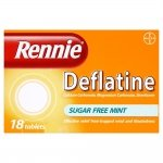 Rennie Deflatine Sugar Free Mint 18 Tablets