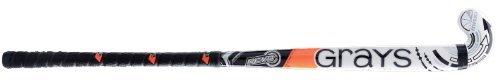 Grays Revo Junior Multicolour Maxi Kopfform Junior Spieler Holz Hockeyschläger - 36.5M, Schwarz /Weiß