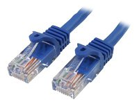 StarTech.com Snagless Cat 5e UTP Patch Cable - Patch cable - RJ-45 (M) - RJ-45 (M) - 10 ft - UTP - ( CAT 5e ) - snagless - blue 10FT SNAGLESS CAT5E RJ45 NTWK PATCH CBL BLUE Manufacturer Part Number RJ45PATCH10