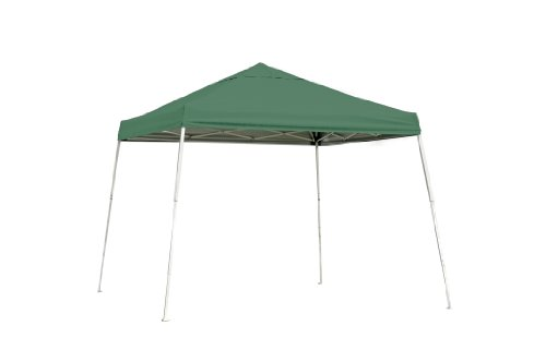 ShelterLogic Sport Series Slant Leg Pop-Up Canopy, Green, 10 x 10-Feet
