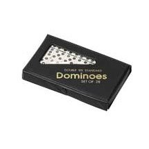 Double Six Professional Dominoes - White with Black Dots, Case Color May Very