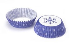60 x Snowflake Cupcake / Muffin Cases