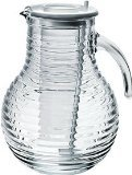 Bormioli Rocco Viva Jug with Ice Container and White Lid, 68-Ounce
