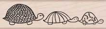 Three Turtles Wood Mounted Rubber Stamp (H5145)