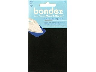Bondex Iron-On Mending Fabric 6-1/2 Inch x14 Inch -Black