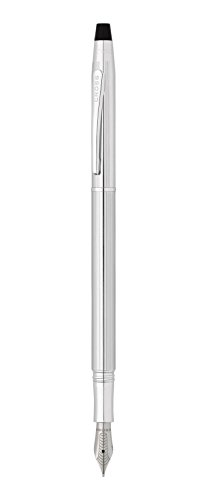 Cross Classic Century, Lustrous Chrome, Fountain Pen with Stainless Steel Nib - Fine (AT0086-74FS)