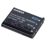 Casio Np-80 Lithium Ion Rechargeable Battery front-723690