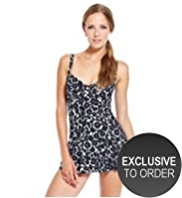 M&S Collection Retro Floral Skirt Style Swimsuit