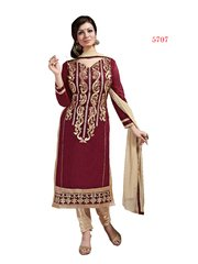 Shaily Retails Women's Maroon Cotton unstiched Dress Material