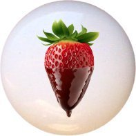 Chocolate-covered Strawberry Drawer Pull Knob