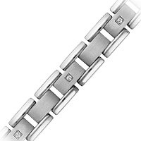 Men's Titanium & Diamond Accent Fashion Bracelet