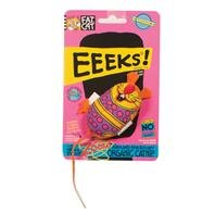 See Bamboo Pet Eeeks! Kitty Hoots Chic Mouse Cat Toy