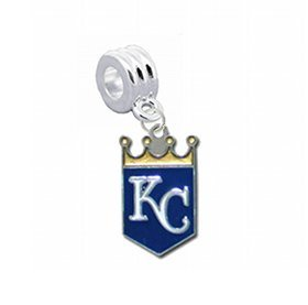 "Kansas City Royals Charm with Connector ""Classic & Original Style"" - Fits: Pandora, Troll, Biagi & More! Perfect For Custom Bracelets, Necklaces and DIY Jewelry at Amazon.com"