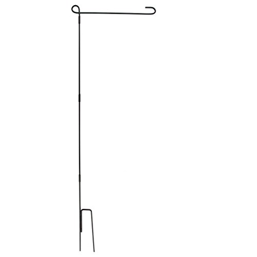 Home-X 4 Piece Wrought Iron Garden Flag Stand. Perfect for Flags & Banners Size 18