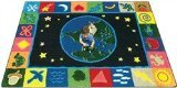 "Joy Carpets Kid Essentials Geography & Environment EarthWorks Rug, Multicolored, 10'9"" x 13'2"""