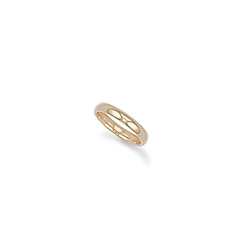 9ct Yellow Gold 3mm Court Wedding Band Ring