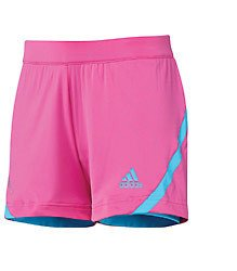 Girls' adidas Barricade Tennis Short Intense Pink/Intense Blue Size S (Age 8Y)