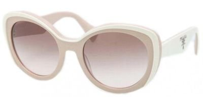 prada Prada 38770 KAW0A6 White 12PS Round Sunglasses Lens Category 2